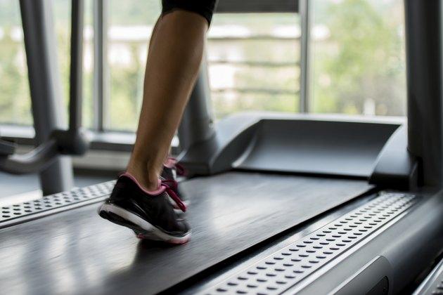 Treadmill Exercising Motion blur