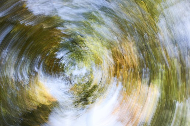 Blurred Autumn Leaves