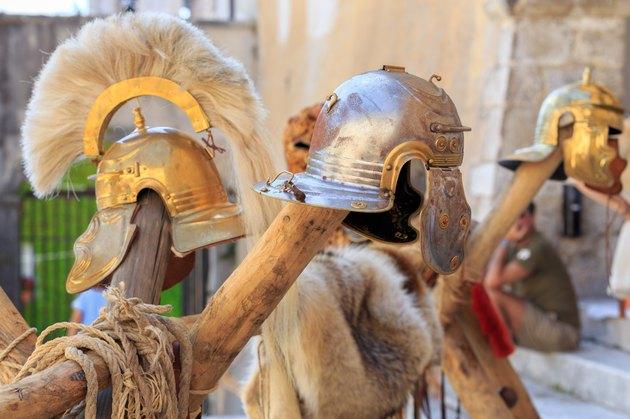 Roman empire helmets