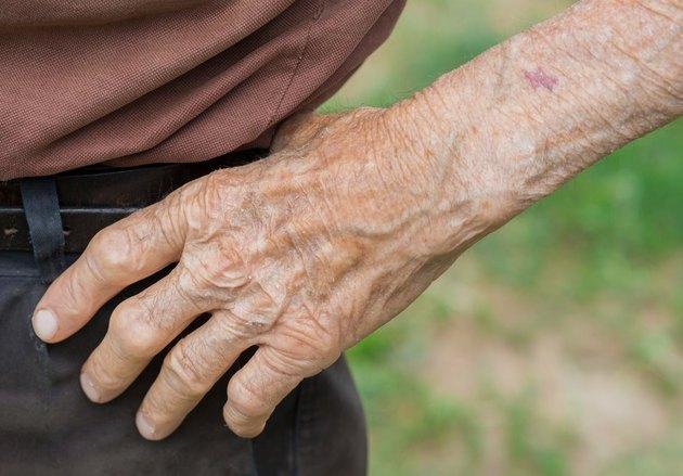 Senior man's hand