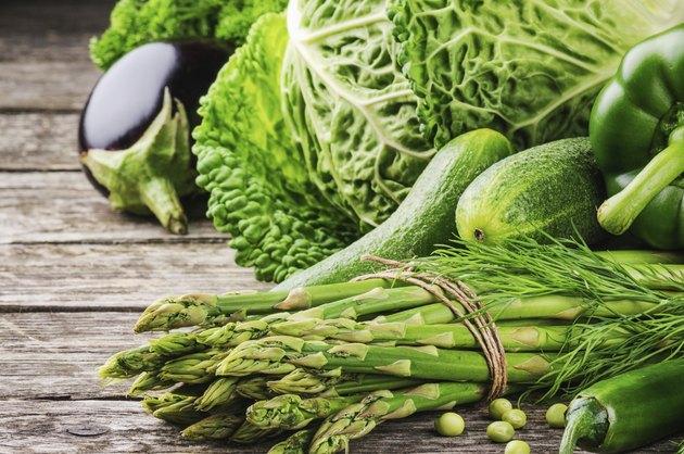 Green organic vegetables