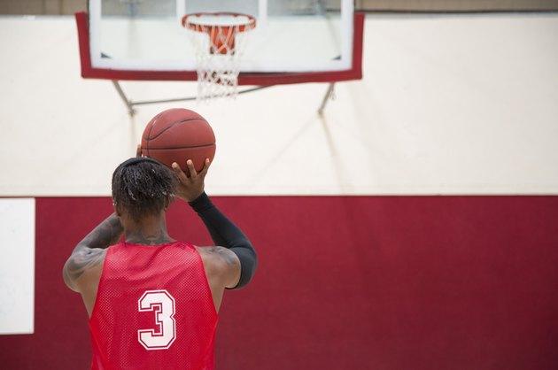 Basketball Player Shooting Free Throws