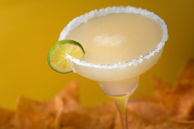 Salted tequila margarita