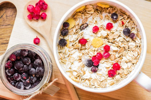 Berries in a bowl of muesli