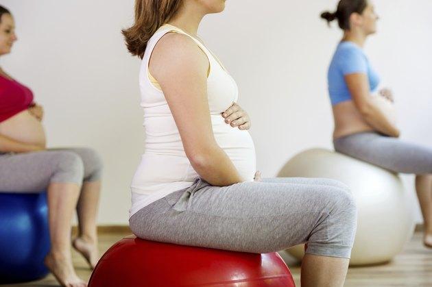 Pregnant women exercising