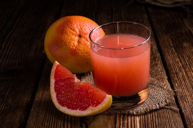 Glass with Grapefruit Juice