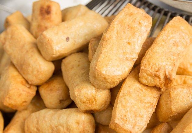 Fried bean curd , Vegetarian food