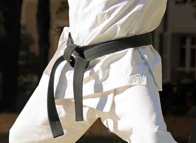 black belt with a combat sport