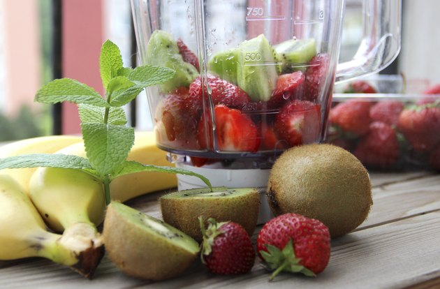 Fresh vivid smoothie ingredients