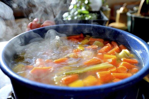 Steamy hot soup