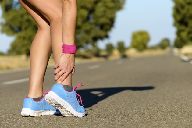 Running and sport ankle sprain injury
