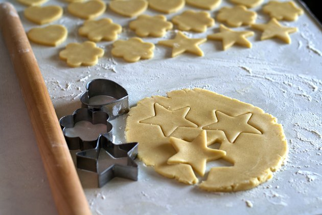 The process of making homemade cookies