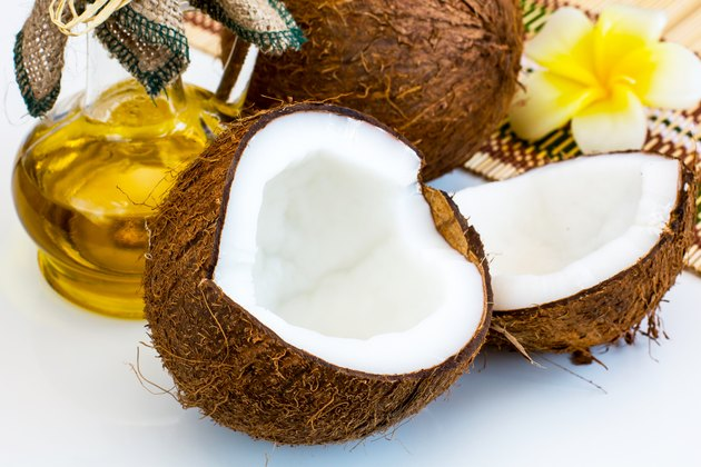 Fresh coconut and oil for alternative therapy