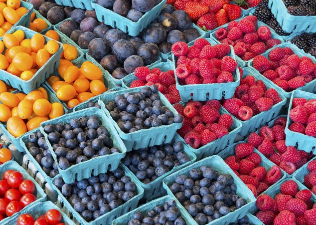 Colorful berries for sale