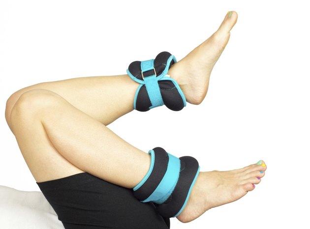 Feet exercising, isolated