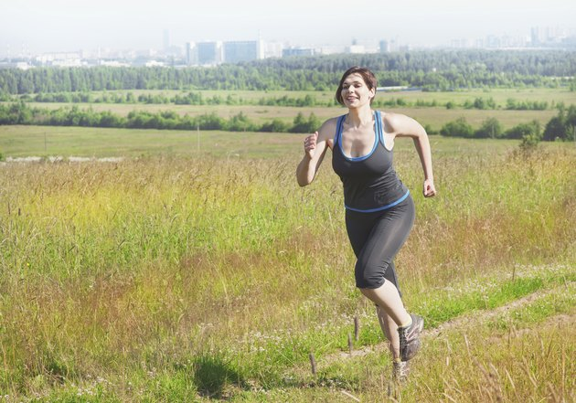 Fitness healthy woman running outdoor