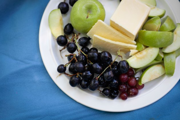 Fruit Plater with cheese at picnic