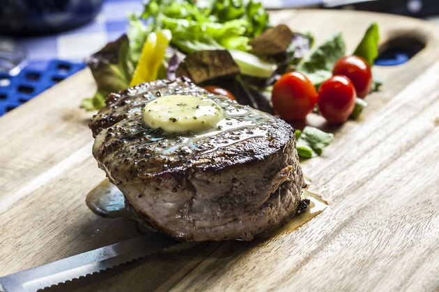 Fillet Steak and salad - the new healthy