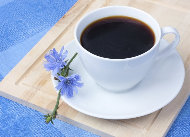 chicory in a white cup