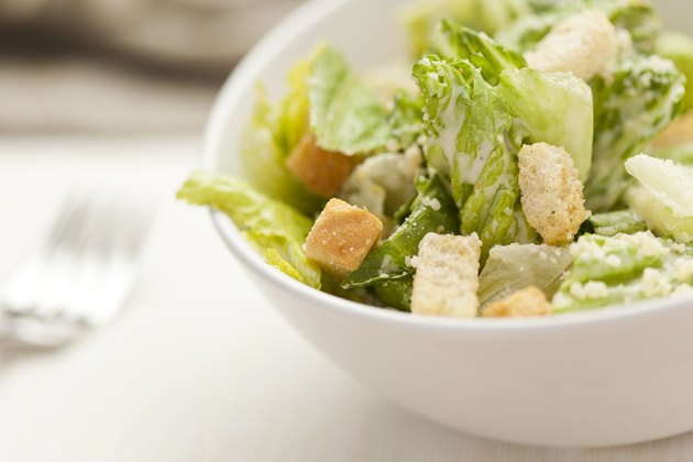 Fresh green Caeser Salad