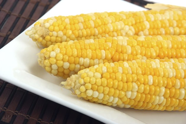 sweet corn on a plate