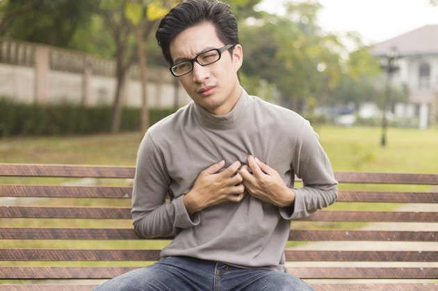 Man has chest pain at park