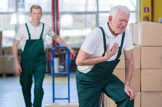 Heart attack in workplace