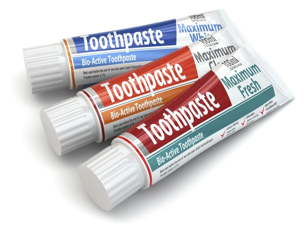 Three toothpaste containers. 3d