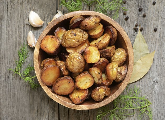Roasted potato in bowl