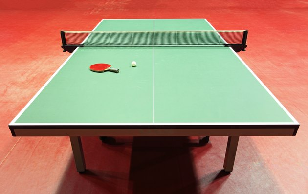 Table tennis with racket and ball
