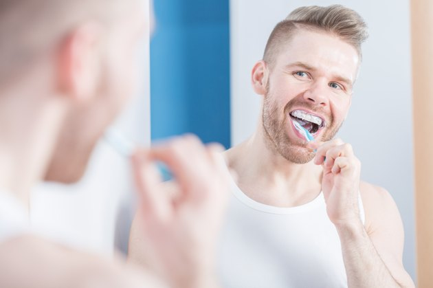 Using whitening toothpaste