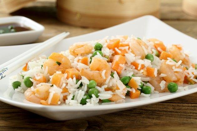 asian food shrimps fried rice