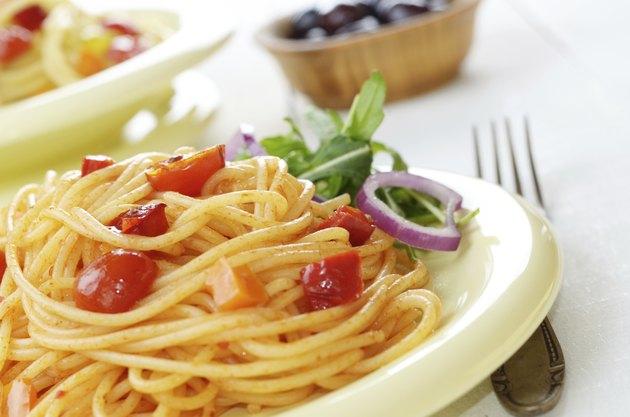 Spaghetti marinara pasta salad