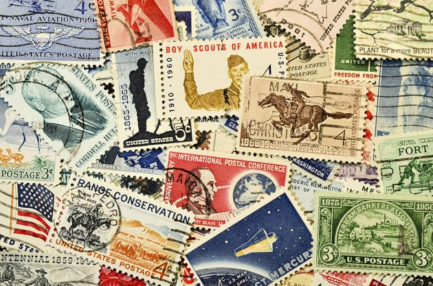 Postage stamps from USA 1960's
