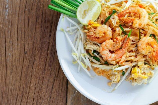 Thailand's national dishes,  (Pad Thai)