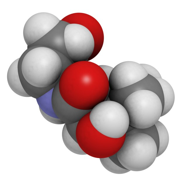 Vitamin B5 (pantothenic acid) molecule