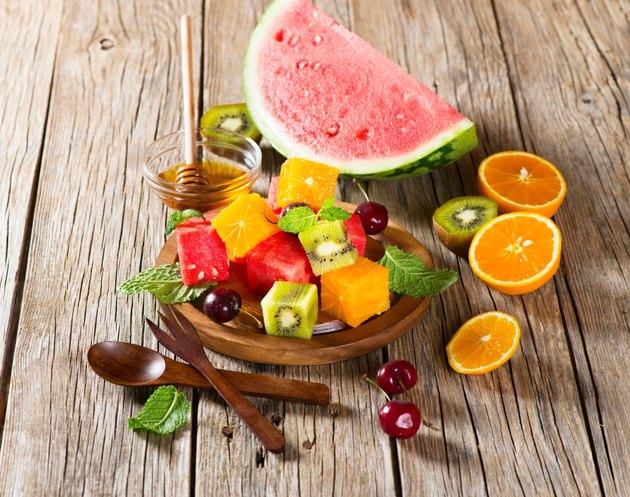 Variation of fresh fruits as dessert
