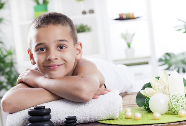 child spa treatment