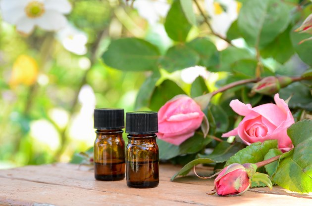 aromatherapy treatment with pink roses