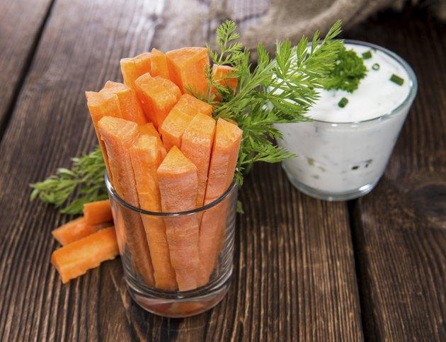 Carrot Sticks in a glass