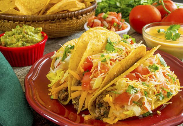 plate of crispy beef tacos