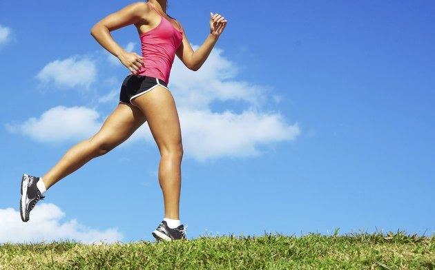 Mixed Race Woman Jogging