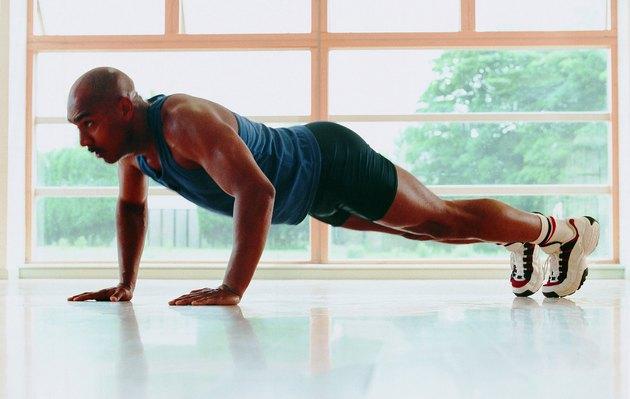 Man performing push-ups