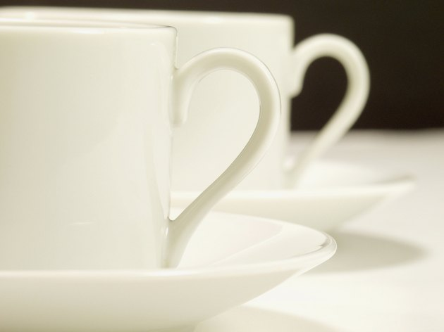 Two cups and saucers
