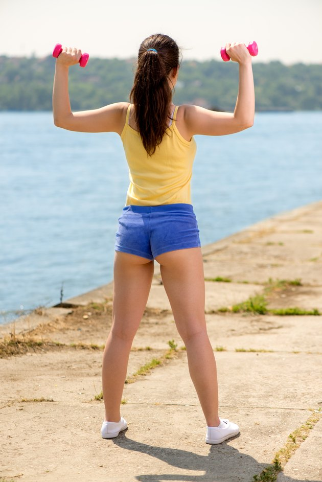 Exercising By The River