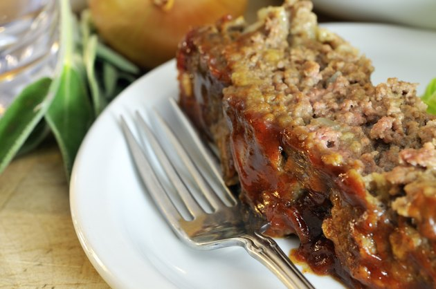 Closeup of Sage Meatloaf