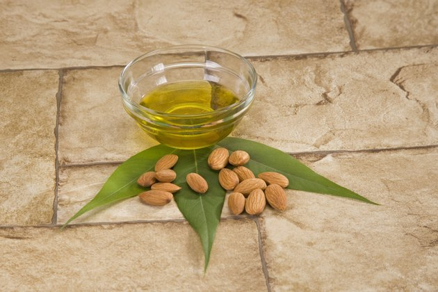 Almonds with Oil and GreenLeaves
