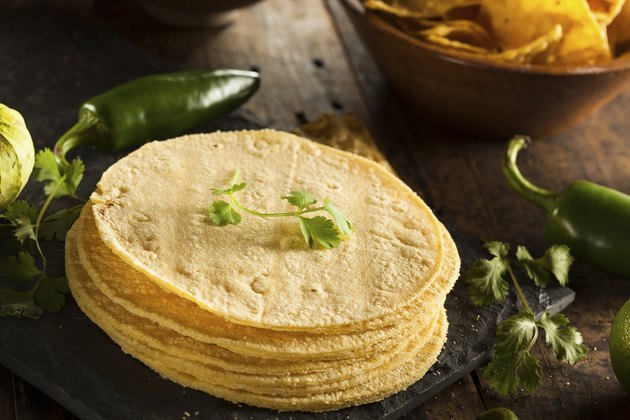 Stack of Homemade Corn Tortillas