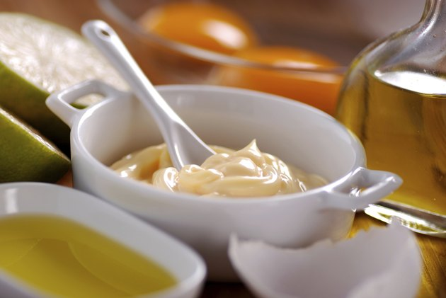mayonnaise sauce with ingredients