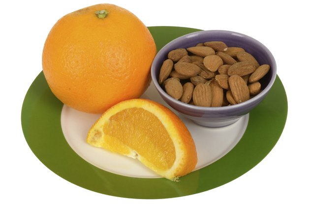 Orange with Almond Nuts